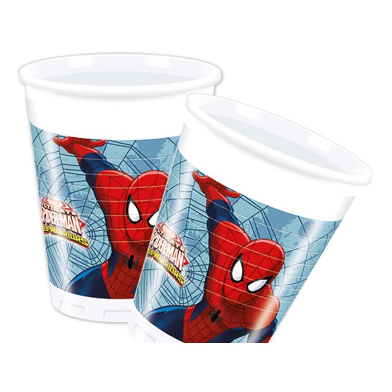 Plastmugg Spiderman - 8-pack